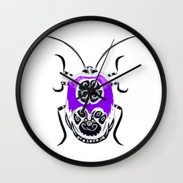 Dressed to impress beetle - ultra violet Wall Clock