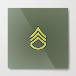 Staff Sergeant (OD Green) Metal Print