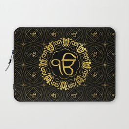 Decorative gold Ek Onkar / Ik Onkar  symbol Laptop Sleeve