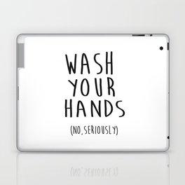 Wash Your Hands Bathroom Print Bathroom Decor Nursery Print Nursery Quote So Fresh And So Clean Laptop & iPad Skin
