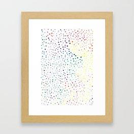 rainbow color geometric Framed Art Print