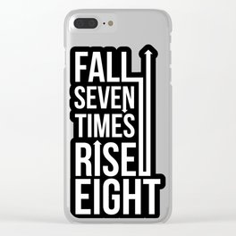 Rise (Black) Clear iPhone Case