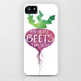 My heart BEETS for you - funny pun design iPhone Case