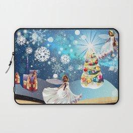 Christmas Magic Book with fairy Laptop Sleeve