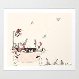 fish office Art Print