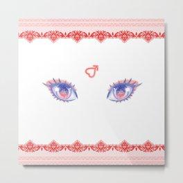 Sailor Mars Eyes Metal Print