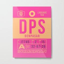 Baggage Tag B - DPS Denpasar Bali Indonesia Metal Print