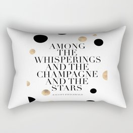 F.Scott Fitzgerald Quote,Champagne Quote,Celebrate,Happy Birthday,Printable Aleks,Typography Art Rectangular Pillow