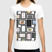 frames T-shirts featuring Wall of Frames by Natalie North