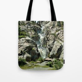 waterfall rope bridge kaunertal alps tyrol austria europe 2 Tote Bag