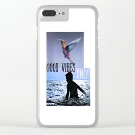 Good vibes only collage Clear iPhone Case