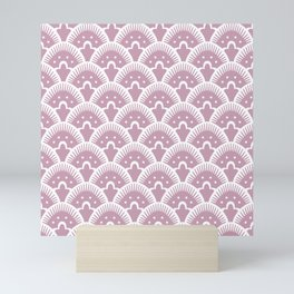 Fan Pattern 431 Dusty Rose Mini Art Print