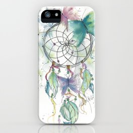 Dream catcher in blue iPhone Case