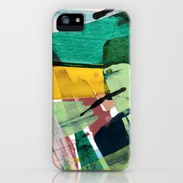 Hopeful[3] - a bright mixed media abstract piece iPhone Case