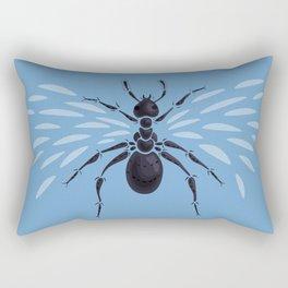 Weird Abstract Flying Ant Rectangular Pillow