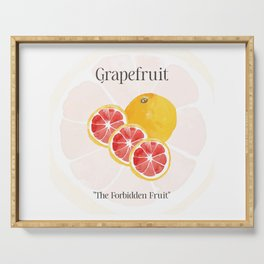 The Glorious Greatness of Grapefruit Serving Tray