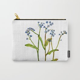 Forget-me-not flowers watercolor art Carry-All Pouch