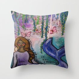 Mermaid Denise Throw Pillow