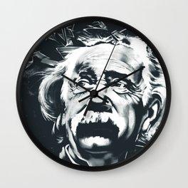 E=mc^2 Albert Einstein Graffiti (Monochrome) Wall Clock