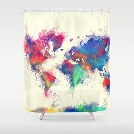 world map 105 #worldmap #map Shower Curtain