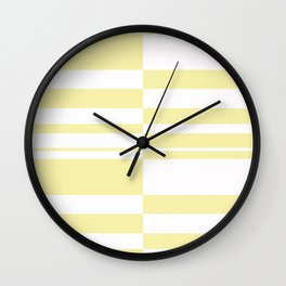 Abstract striped pattern.white and yellow . Wall Clock