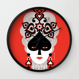 The Queen of spades Wall Clock