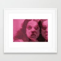 snl Framed Art Prints featuring gilda by Bad Movies