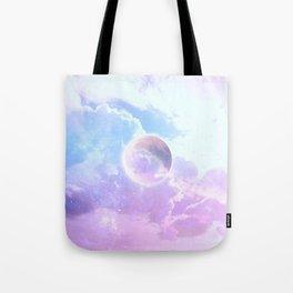 Iridescent Moon in Clouds #moonart Tote Bag