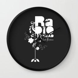 Radiohead song - Last flowers illustration white Wall Clock