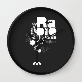 Radiohead song - Last flowers illustration white Wall Clock