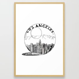 Los Angeles City in a Glass Ball Framed Art Print
