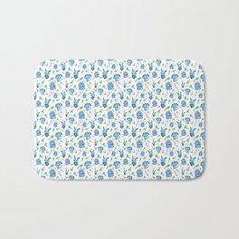 Blue Bunny Pattern Bath Mat