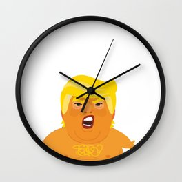 Trump Baby Balloon Blimp filled with farts  Wall Clock