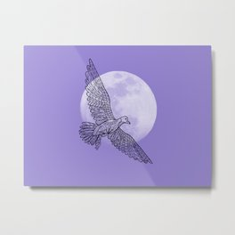 moon and bird Metal Print