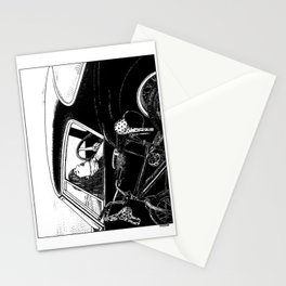 asc 432 - Le bolide noir (Never go into a black car) Stationery Cards