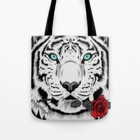 rose Tote Bags featuring Rose by Roland Banrevi