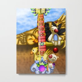 Fusion Keyblade Guitar #23 - Metal Chocobo & Mogry of Glory Metal Print
