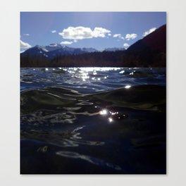 Vermillion Lake Waves Canvas Print