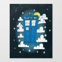 tardis Canvas Prints featuring blue box by Matthew Taylor Wilson