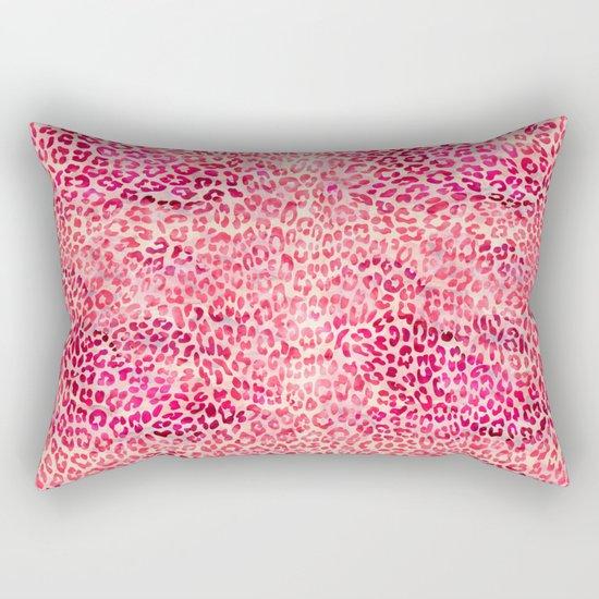 Pink Leopard Print Rectangular Pillow