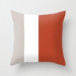 Modern Minimal Colorblock Burnt Orange Throw Pillow