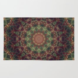 Green Mandala Rug