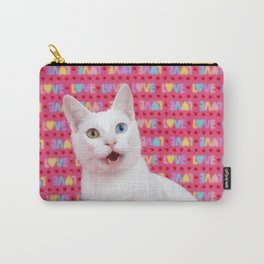 Happy Valentine's Day Kitten Carry-All Pouch