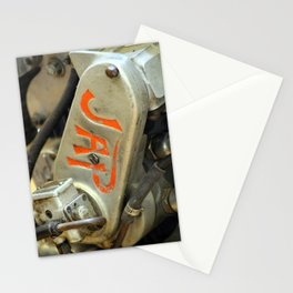 Extreme Closeup of Antique Motorcycle Stationery Cards
