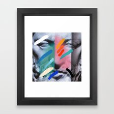 Composition on Panel 6 Framed Art Print
