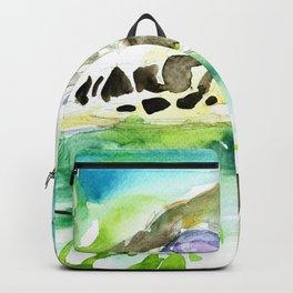 GIRAFFE - watercolor portrait.4 Backpack