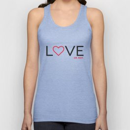 Love (or not) Unisex Tank Top