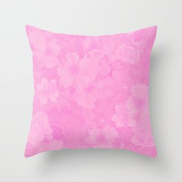 PINK MUSIC Throw Pillow
