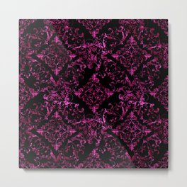 Floral pattern blk 270315 Metal Print