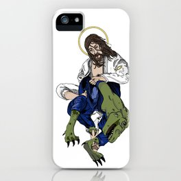 Jesus Berimboloing a T-Rex iPhone Case